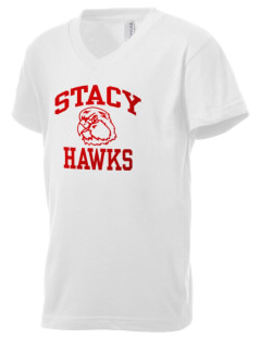 Stacy Middle School Hawks Kid's V-Neck Jersey T-Shirt