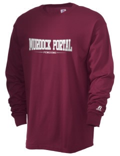 Murdock Portal Elementary School Penguins  Russell Men's Long Sleeve T-Shirt