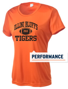 Illini Bluffs Elementary School Tigers Women's Competitor Performance T-Shirt