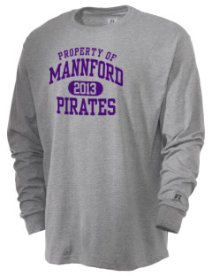 Mannford Elementary School Pirates  Russell Men's Long Sleeve T-Shirt