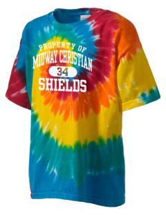 Midway Christian School Shields Kid's Tie-Dye T-Shirt