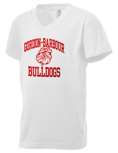 Gordon-Barbour Elementary School Bulldogs Kid's V-Neck Jersey T-Shirt