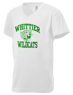 Whittier Elementary School Wildcats Kid's V-Neck Jersey T-Shirt