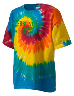 Cerro Villa Middle School Vikings Kid's Tie-Dye T-Shirt