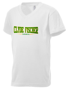 Clyde Fischer Middle School Saints Kid's V-Neck Jersey T-Shirt