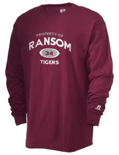 Ransom Middle School Tigers  Russell Men's Long Sleeve T-Shirt