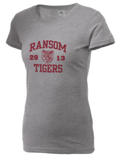 Ransom Middle School Tigers  Russell Women's Campus T-Shirt