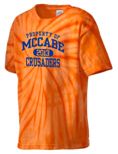 McCabe Elementary School Crusaders Kid's Tie-Dye T-Shirt