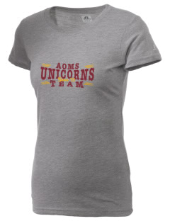 Adelanto School Academy Of Math Science Unicorns  Russell Women's Campus T-Shirt