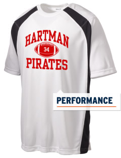 Hartman Middle School Pirates Men's Dry Zone Colorblock T-Shirt