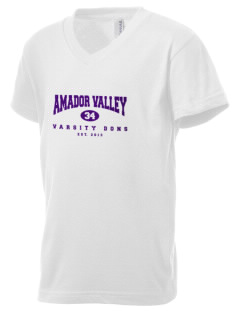 Amador Valley High School Dons Kid's V-Neck Jersey T-Shirt