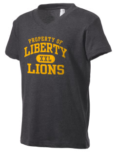 Liberty High School Lions Kid's V-Neck Jersey T-Shirt
