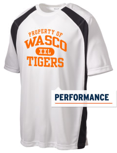 Wasco High School Tigers Men's Dry Zone Colorblock T-Shirt