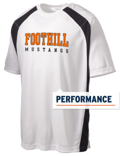 Foothill High School Mustangs Men's Dry Zone Colorblock T-Shirt