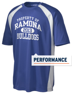 Ramona High School Bulldogs Men's Dry Zone Colorblock T-Shirt