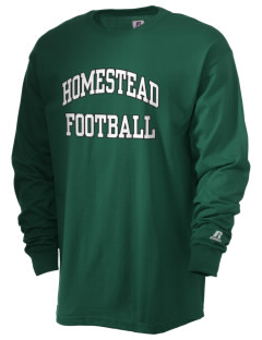 Homestead High School Mustangs  Russell Men's Long Sleeve T-Shirt