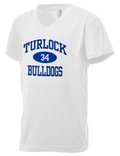 Turlock High School Bulldogs Kid's V-Neck Jersey T-Shirt