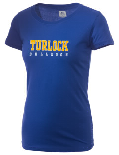 Turlock High School Bulldogs  Russell Women's Campus T-Shirt