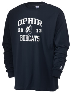 Ophir Elementary School Bobcats  Russell Men's Long Sleeve T-Shirt