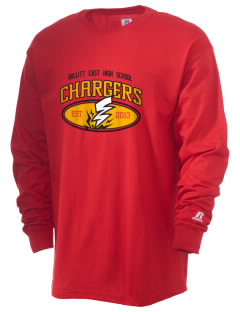 Bullitt East High School Chargers  Russell Men's Long Sleeve T-Shirt