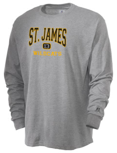 Saint James High School Wildcats  Russell Men's Long Sleeve T-Shirt