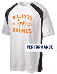 Billings Senior High School Broncs Men's Dry Zone Colorblock T-Shirt