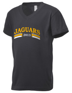 Farmville Central High School Jaguars Kid's V-Neck Jersey T-Shirt