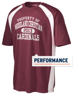 Woodland Christian School Cardinals Men's Dry Zone Colorblock T-Shirt