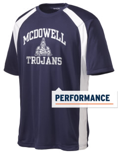 McDowell High School Trojans Men's Dry Zone Colorblock T-Shirt