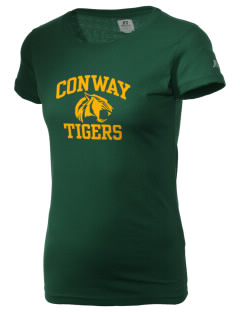 Conway High School Tigers  Russell Women's Campus T-Shirt