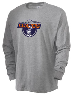 Richland Northeast High School Cavaliers  Russell Men's Long Sleeve T-Shirt