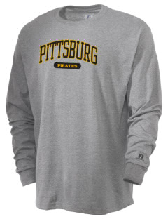 Pittsburg High School Pirates  Russell Men's Long Sleeve T-Shirt