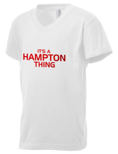 Hampton High School Crabbers Kid's V-Neck Jersey T-Shirt