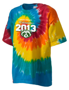 Evergreen High School Wolverines Kid's Tie-Dye T-Shirt