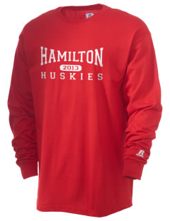 Hamilton Elementary School Huskies  Russell Men's Long Sleeve T-Shirt