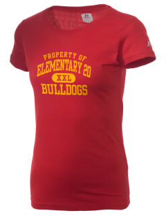 Elementary School 20 Bulldogs  Russell Women's Campus T-Shirt