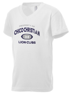 Chico Christian School Lion Cubs Kid's V-Neck Jersey T-Shirt