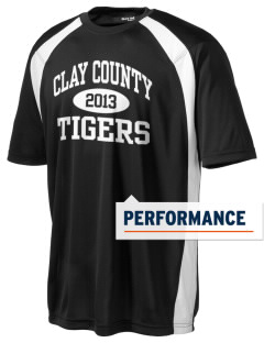 Clay County High School Tigers Men's Dry Zone Colorblock T-Shirt