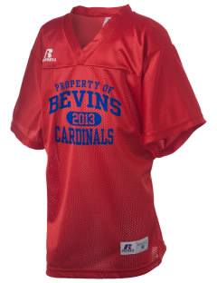 Bevins Elementary School Cardinals Russell Kid's Replica Football Jersey