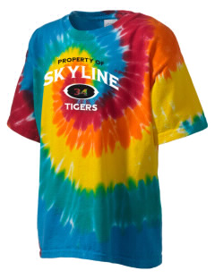 Skyline School Tigers Kid's Tie-Dye T-Shirt