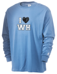 Winsor Hill Elementary School Wizards  Russell Men's Long Sleeve T-Shirt
