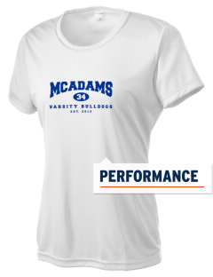 McAdams High School Bulldogs Women's Competitor Performance T-Shirt