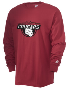 Community Christian School Cougars  Russell Men's Long Sleeve T-Shirt