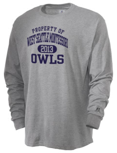 West Seattle Montessori School Globes  Russell Men's Long Sleeve T-Shirt