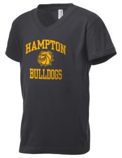 Hampton Elementary School Bulldogs Kid's V-Neck Jersey T-Shirt