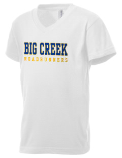 Big Creek Elementary School Roadrunners Kid's V-Neck Jersey T-Shirt