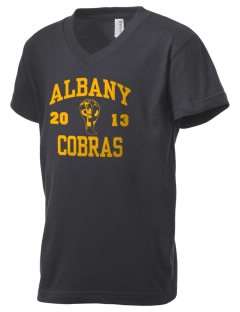 Albany Middle School Cobras Kid's V-Neck Jersey T-Shirt