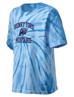 Henry Ford Elementary School Mustangs Kid's Tie-Dye T-Shirt