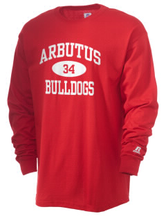 Arbutus Elementary School Bulldogs  Russell Men's Long Sleeve T-Shirt