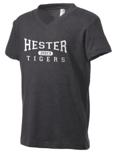 Hester Elementary School Tigers Kid's V-Neck Jersey T-Shirt